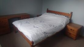 Bed, bedside table and dressing table for sale (altogether or separately )