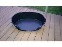 FREE Large Black Plastic Dog Bed