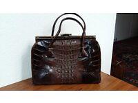 Crocodile leather handbag, 1950s, Vintage