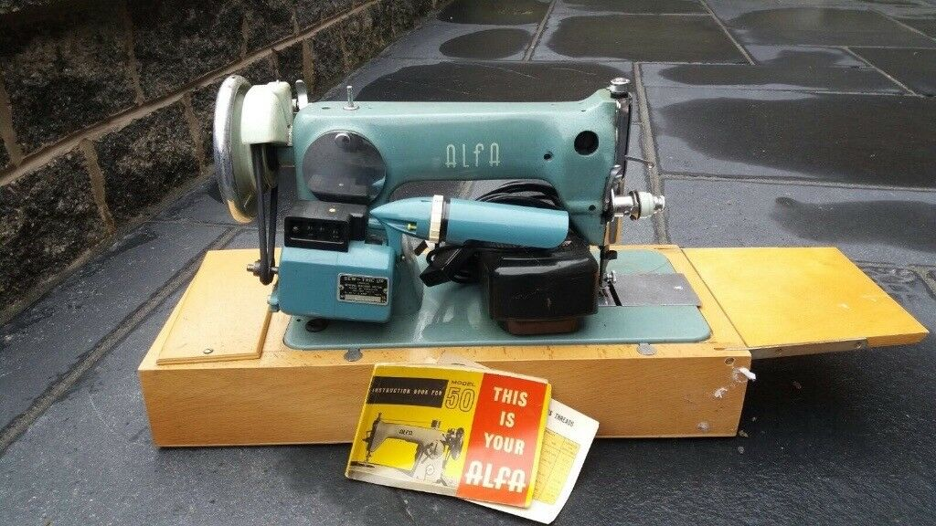 Alfa 40 Vintage Electric Sewing Machine In Cheadle Manchester Magnificent Alfa Model 50 Sewing Machine
