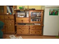 Set of 2xSideboards, Dresser, TV Cabinet, Coffee Table and 2xBook/Display case