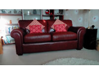 Quality Leather Sofa with sprung double bed