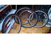 Bike wheels and tyres