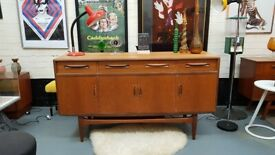 VINTAGE MID CENTURY DANISH DESIGN TEAK G PLAN FRESCO SIDEBOARD MEDIIA DISPLAY STORAGE SCANDI HOME