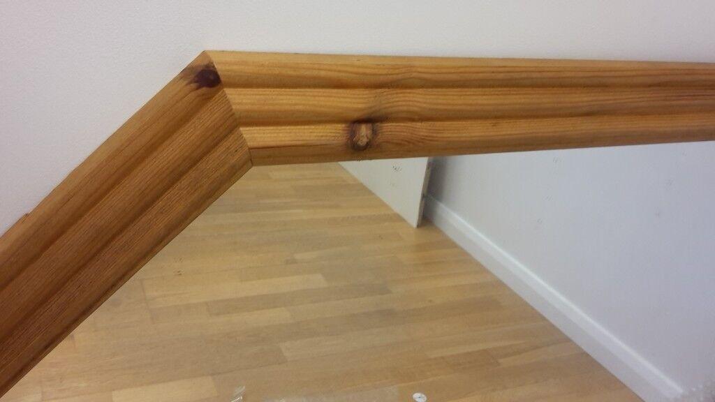 Brand New Rustic Pine Wood Mirror Overmantle Design Mantle Piece