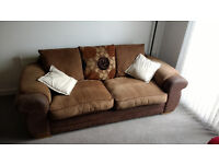 Sofa with Cushions and Throws - REDUCED