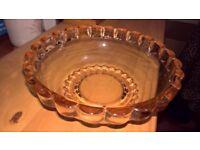 Coloured Glass Fruit Bowl