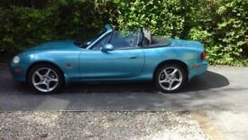 2003 MAZDA MX5 SPORT 1800cc CONVERTIBLE - 6 speed gearbox