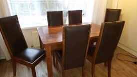 Sheesham wood table and chairs