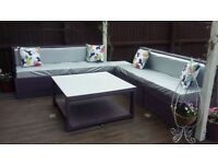 Homemade pallet garden furniture
