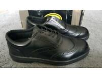 Capps LH707 Black Leather Safety Shoes Size 12 BNIB
