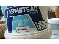 Brand new 10 litres trade magnolia matt emulsion