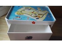 Kids Play Train Table with a wheeled storage box. Built in a very solid condition