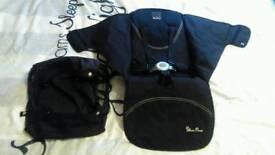 Silvercross pop pram, pushchair, stroller, buggy seat, harness and basket