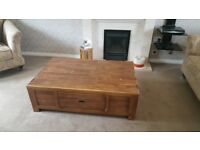 Cherrywood coffee table, side table and corner unit