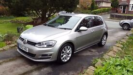 VW Golf GT. Full GT spec. Metallic Tungsten Silver. Great condition. New company car forces sale.