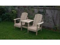 Jack and Jill seat Love Seat Twin seat Garden chair Summer seat furniture set Loughview Joinery