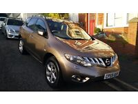 NISSAN MURANO AUTO 2010 CVT WITH ONLY 65000 AND FULL NISSAN SERVICE HISTORY,NEW MOT ,PLUS WARRANTY!