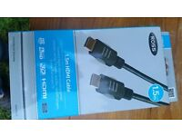 New Ross 1.5m HDMI cable in box unopened worth £25 for £15 from smoke n pets free home