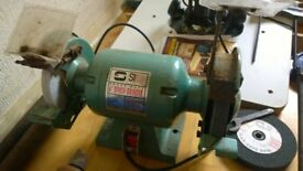 "6"" Bench Grinder with spare wheel"