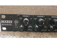 MX822 Eight Channel Stereo Rackmount Mixer