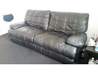 Genuine leather 3 and 2 seater recliner sofas, over £2000 new looking for £350 may swap why