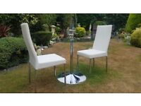 John Lewis Kitchen / Dining Round Table and Cream Chairs