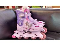 Inline Skates Groovy Chick Adjustable UK Size 2-4. Well used but plenty of life left. £5