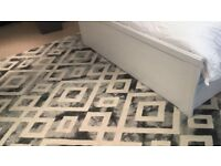 Carpet Rug - Black, grey and white diamonds pattern 160cm x 230cm -- Great Condition