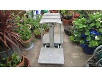 VINTAGE POTATO SACK SCALES, CAST ALUMINIUM, MADE BY WALKER BROTHERS NORWICH