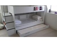 ASPACE bunk bed with third pull out bed beneath