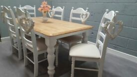Exquisite 6ft x 3ft Shabby Chic Table Set