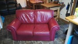 Leatherette 2 seater sofa