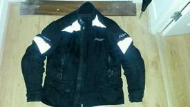 rst textile motorcycle jacket size l