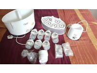 Tommee Tippee Feeding Kit (steriliser, warmer, bottles) in great conditions