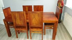 Solid Rosewood 6-Chair Dining table