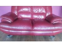 2 SEATER RED SOFA 60 pounds