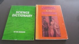 Science Dictionary and Cambridge Latin Book