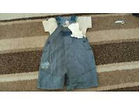 6-9 months new with tags dungaree set