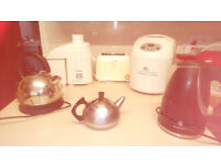 Kettles, juicer, bread maker, toaster and tea pot