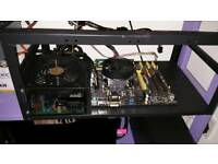 Crypto Mining Rig for sale - Core i5 4690 CPU + ATX motherboard + 750 Watt 80+ PSU+ Mining Case