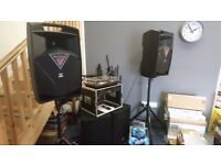 Proel V15A PA Speakers Pair (Comes with 2x Tripods)