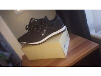 BRAND NEW, BLACK GLITTER TRAINERS