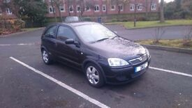 Black 3 Doors Vauxhall Corsa 1.0 petrol-YEAR MOT,very good condition,clean and tidy.