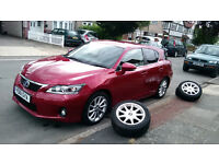 lexus ct 200 in red VGC goes with extra 4 winter tyres