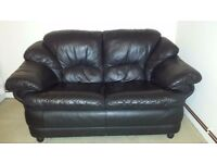 Leather sofa 2 seater open to offers
