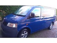 VW T5 swb van 1.9TDi, 2004 blue with tinted side windows and alloy wheels. 180,00 miles MOT May 2017