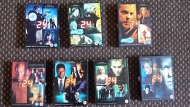 box sets of dvds. 24 seasons 1 to 7