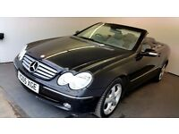 2005 | Mercedes CLK 2.4 Elegance | CONVERTIBLE | LEATHER | SENSORS | FULL SERVICE HISTORY | MOT