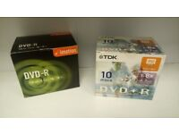 DVD-R/DVD+R Discs Pack of 10 for sale  Staffordshire